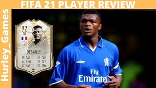 ICON MOMENTS DESAILLY 92! BEST TRUE CB IN THE GAME?? MARCEL DESAILLY FIFA 21 FUT REVIEW!