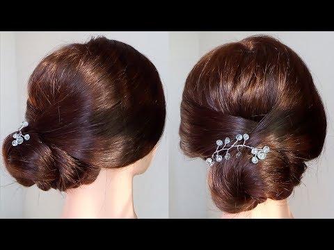 Tóc bới thấp 8 - tóc bới, tóc tết, tóc xõa, tóc dợn sóng, tóc lệch vai...