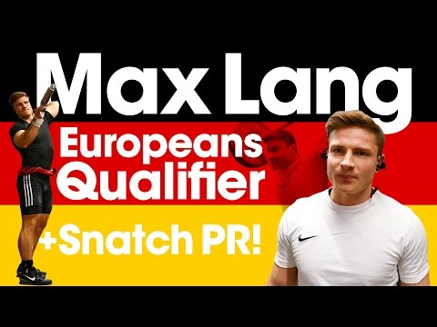 "Max Lang Europeans Qualifier with 154kg Snatch PR! (with Subtitles, Press ""CC"" Button)"