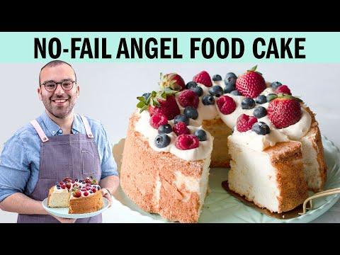 Easy Angel Food Cake Recipe!- The Scran Line