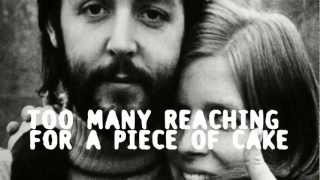 Paul McCartney - Too many people (Lyrics on screen)