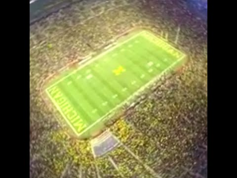 Commando Parachute Landing in Michigan Football Stadium  Big House in Ann Arbor