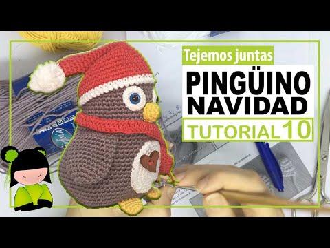AMIGURUMI DE NAVIDAD 🎄 PINGÜINO PAPA NOEL navideño 🐧 Tutorial  10