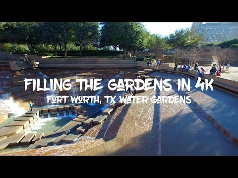 Epic Filling of the Fort Worth Water Gardens in 4K - Phantom 3 Professional