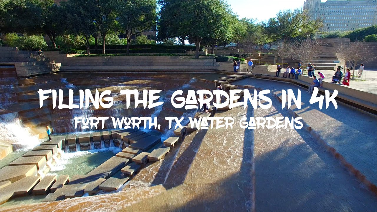 Epic Filling of the Fort Worth Water Gardens in 4K Phantom 3