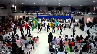 Abertura festa dos departamentos Portas Bandeiras Breu Branco Pará