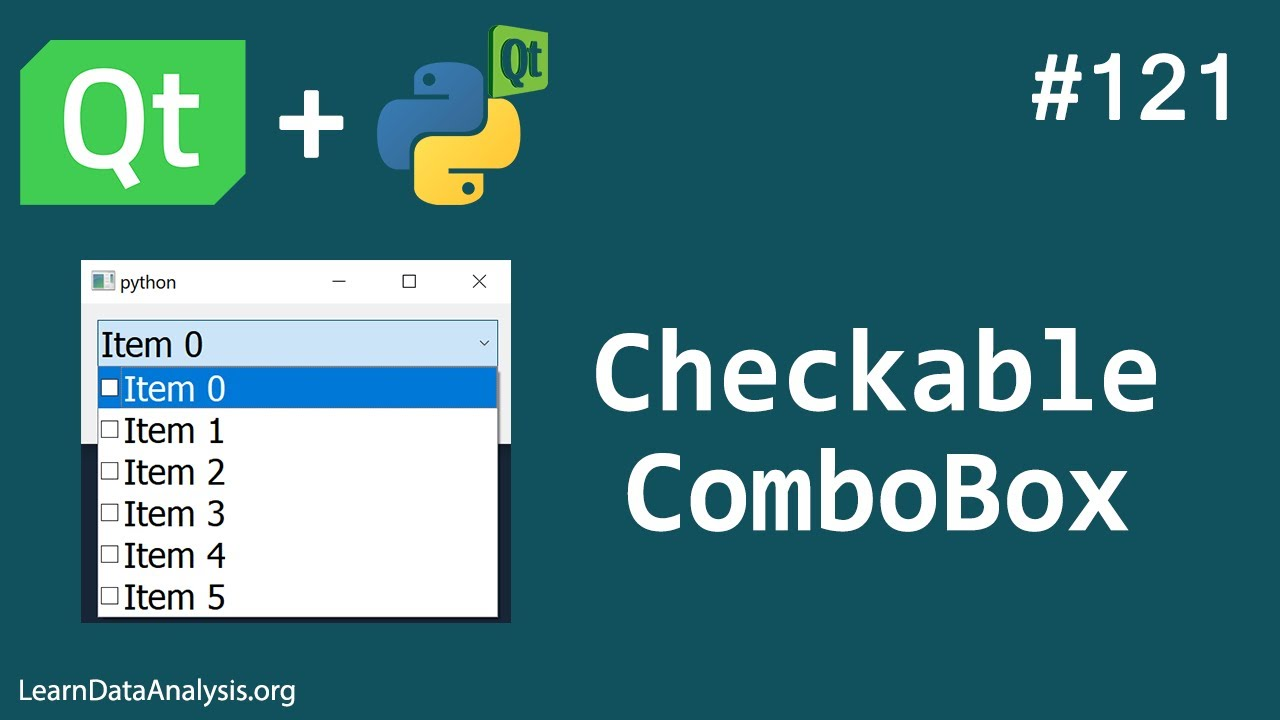 How to Create Checkable ComboBox Widget | PyQt5 Tutorial