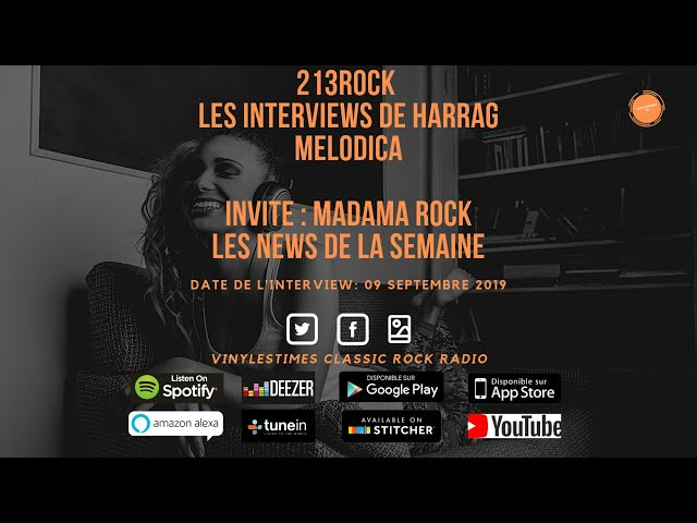 213Rock Harrag Melodica 🎧 Podcast 🎧 News Madama Rock 09 09 2019.