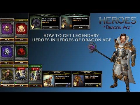 Heroes Of Dragon Age How To Get Legendaries (13 WAYS )