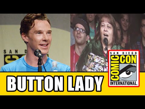 "Thumbnail: Benedict Cumberbatch Says ""Button Lady"" In Smaug Voice At The Hobbit 3 Comic Con Panel"