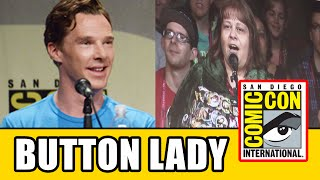 "Benedict Cumberbatch Says ""Button Lady"" In Smaug Voice At The Hobbit 3 Comic Con Panel"