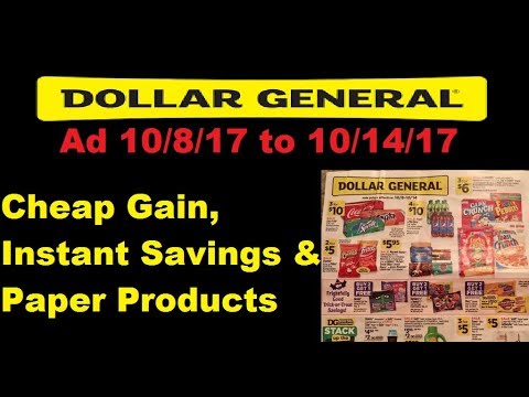 Dollar General Ad 10 8 To 10 14 Instant Savings Paper Products