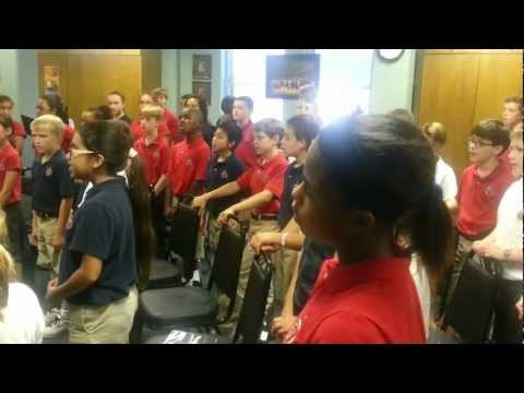 Annapolis Christian Academy Children's Choir practice 5th & 6th Grade