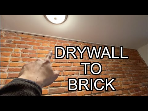 Drywall to Brick Transition (DO THIS) | KHOA THE BUILDER