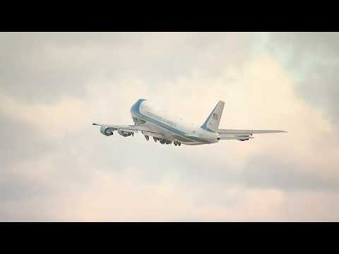 President Trump leaves for Atlanta on Air Force One