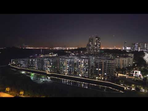Singapore, cable car night ride from Mount Faber to HarbourFront via Sentosa