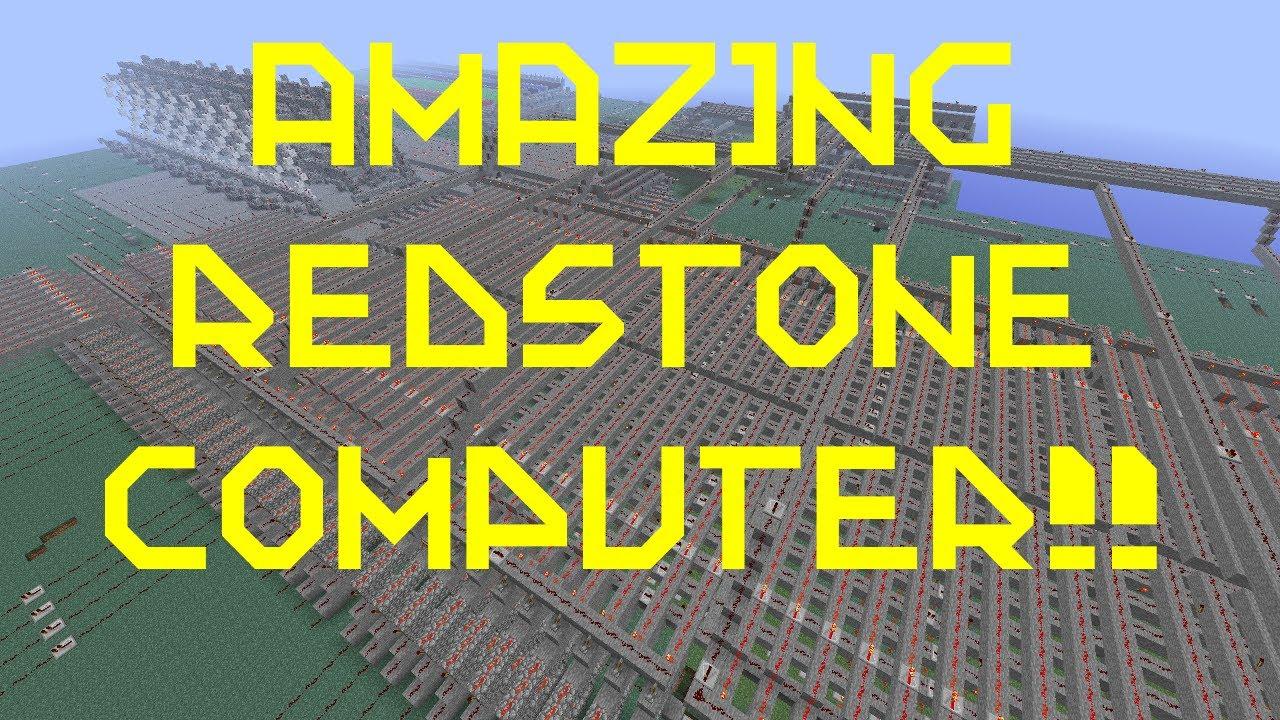 Minecraft - Amazing Redstone Computer - YouTube