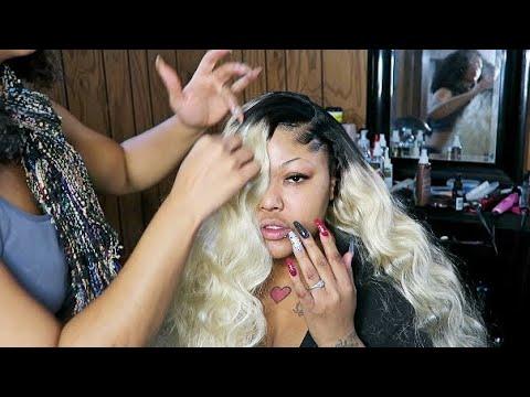 Side Bang Sewin START TO FINISH  6131B Brazilian Hair