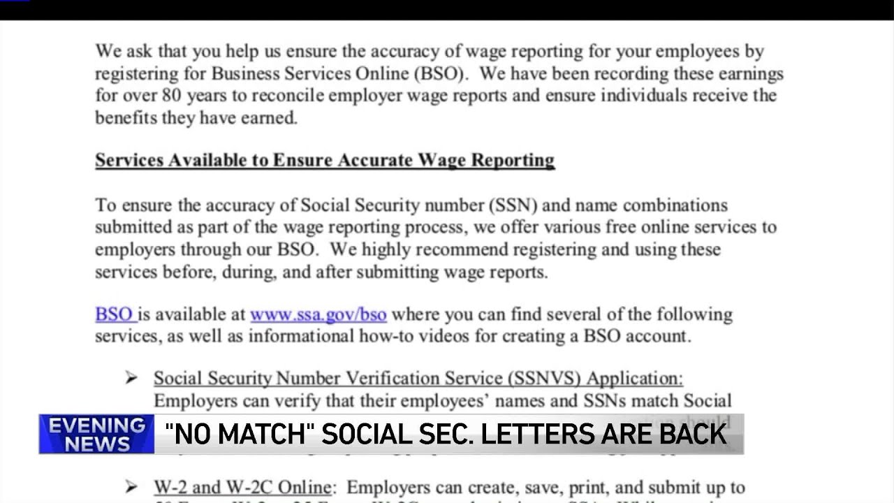 Social Security Letter Of Benefits.Immigrant Groups Say No Match Social Security Letters Just A Scare Tactic