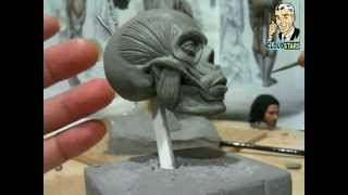 How To Sculpt Ecorche Hercules - Part 43 Facial Muscles