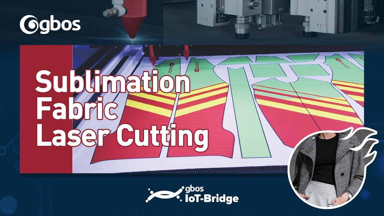 Digital printing fabric laser cutting machine demo (GH1610 ...