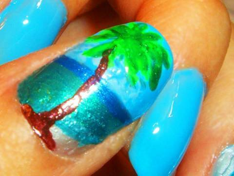 Fantastic Swirl Nail Polish Small Nail Art Games For Kids Square How To Do Nail Art Designs Step By Step Nail Art Tv Show Young Best Nail Polish Blogs BrightNail Art Stickers Online Nail Art Tutorial: Palm Tree On The Beach   YouTube