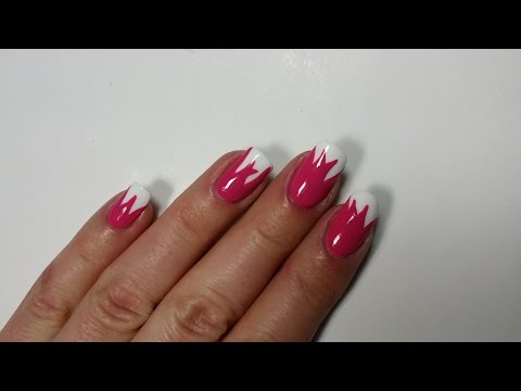 mother's day tulip nails stroke