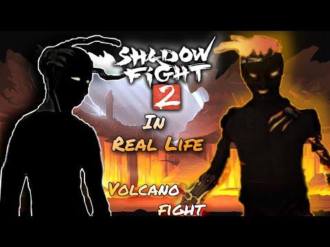 Shadow Fight 2 In Real Life Volcano (Underworld) Boss Battle.