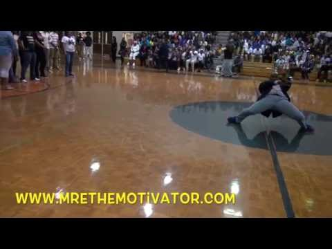 Youth Speaker - Mr. E! The Motivator! | Kendrick Middle School GMAS Rally Snippet