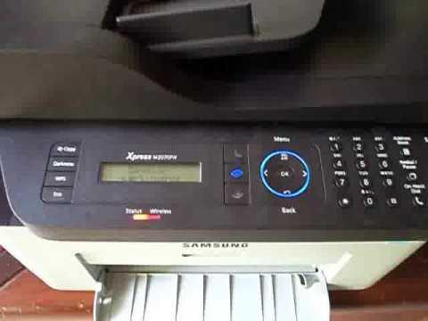 Impresora Multifuncional Samsung M2070fw Youtube