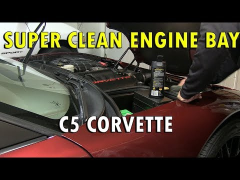 Super Cleaning The Engine Bay Of A C5 Corvette