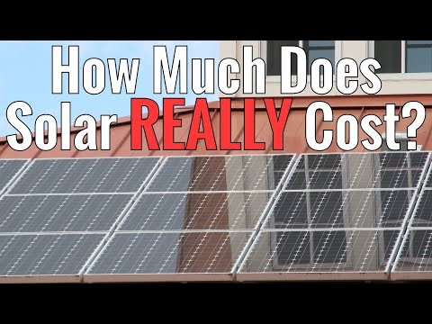 How much does solar REALLY cost?  Does it have to be expensi
