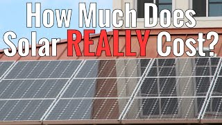 Repeat youtube video How much does solar REALLY cost?