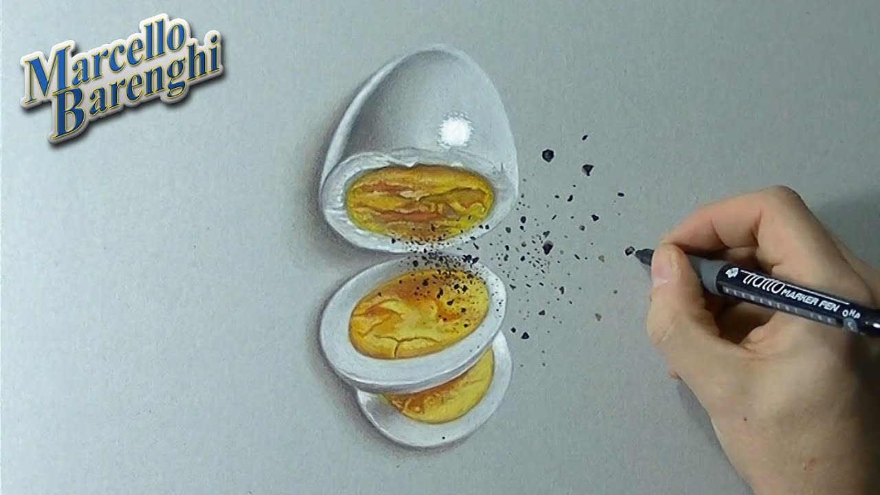 How to draw 3D eggs