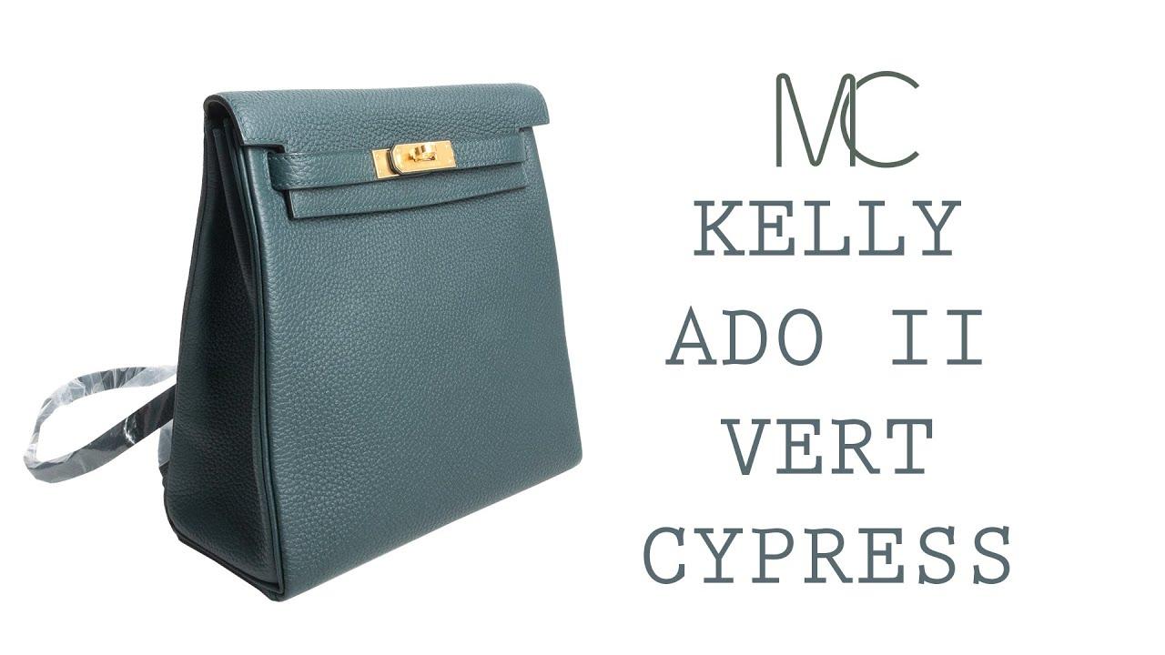 d59aaa7bec4f MIGHTYCHIC • HERMÈS Kelly Ado II Backpack Vert Cypress Gold Hardware ...