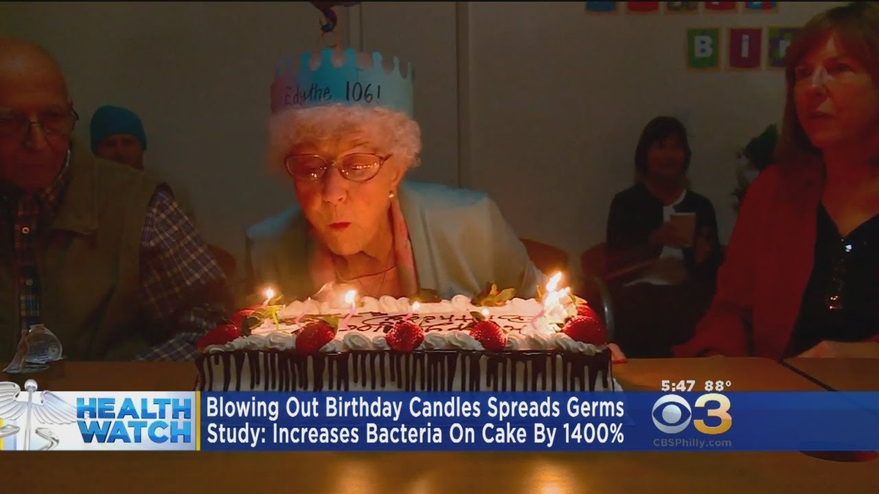 Blowing out birthday candles increases bacteria on cake  by a lot