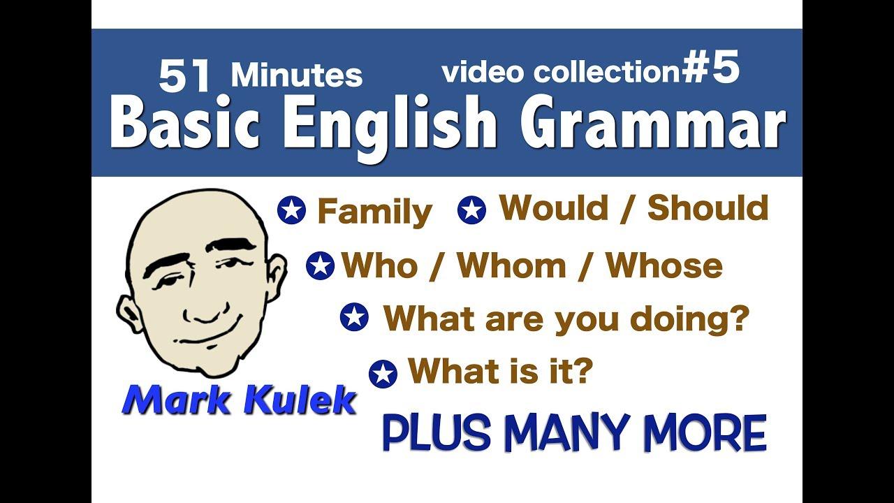Basic English Grammar - video collection #5 | English for Communication - ESL
