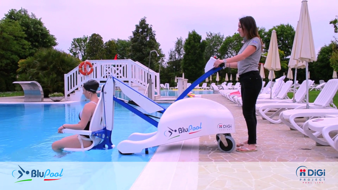 BLUPOOL: sollevatore mobile per piscina per disabili / portable pool lift for disabled people ...