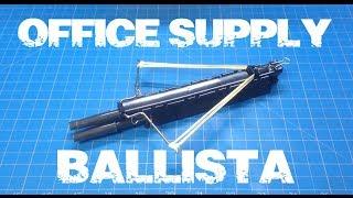 Diy Mini Crossbow Office Supply Ballista