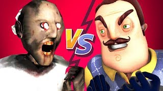 Гренни vs Привет Сосед - фильм (Все серии подряд Хеллоу Нейбор 3D анимация)