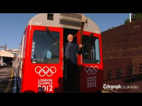 London 2012: Olympic torch rides the Tube