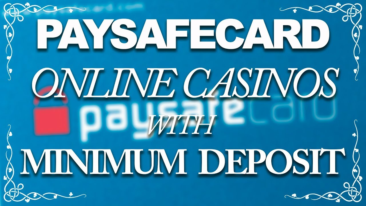 Online casino minimum deposit 5 play games for money apps