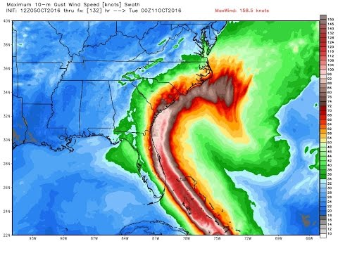 Z-Cast LIVE 10/5/16: MATTHEW TO IMPACT SOUTH-EAST