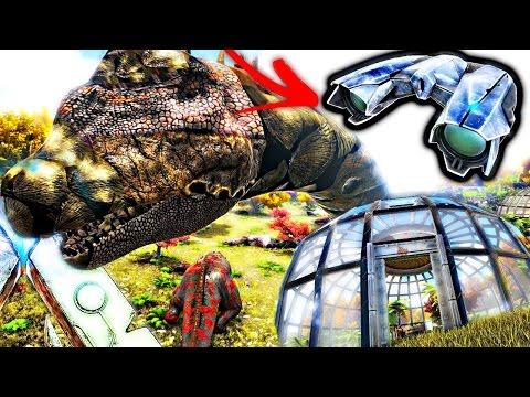 ARK Survival Evolved - TEK BINOCULARS, THROWABLE TELEPORT BALL,  AVIARY & JURASSASAURUS MOD Gameplay