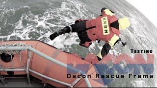 KNRM katwijk aan zee Test het Dacon rescue frame