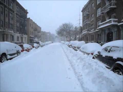 Blizzard 2016 Crown Heights Brooklyn