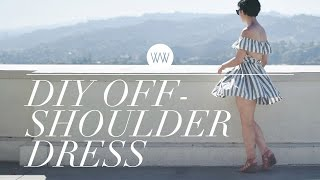 How to Make an Off-Shoulder Dress | WITHWENDY