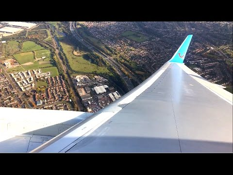 Thomson 757 Pushback, Taxi and Takeoff from Birmingham Airport