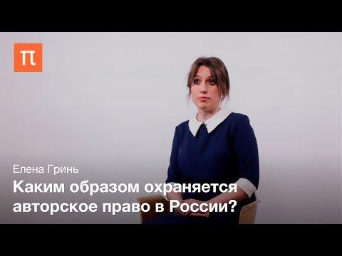 видео: Объекты авторских прав Елена Гринь