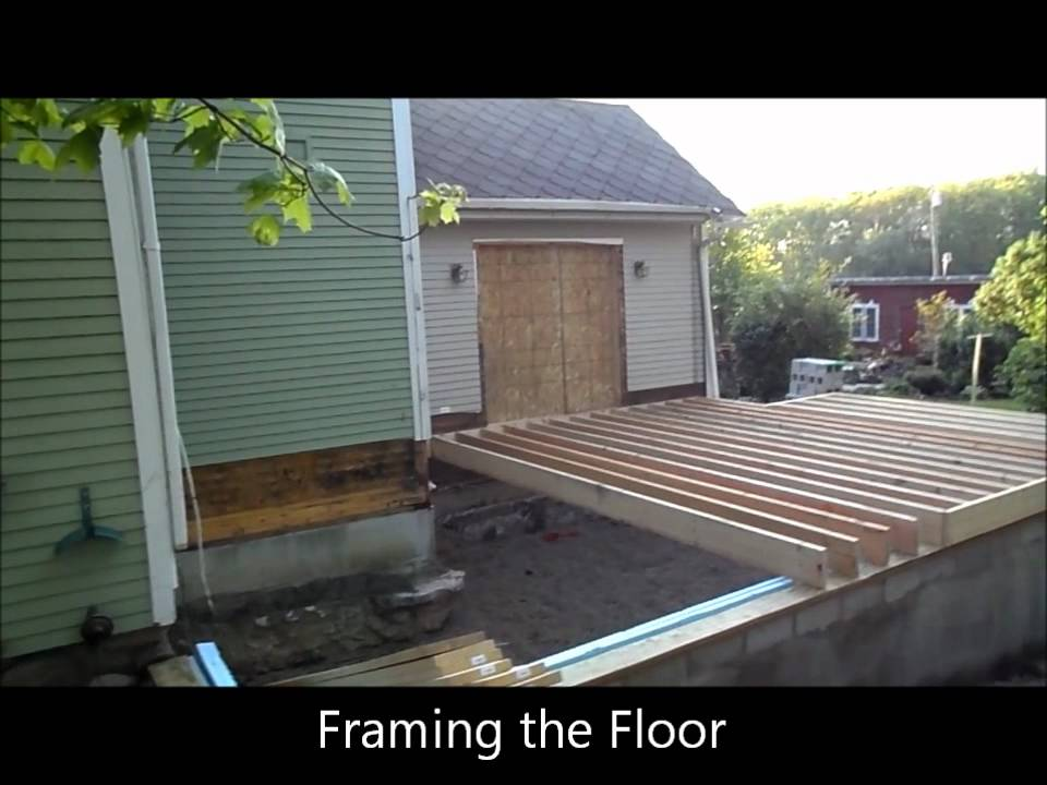 Ann Arbor Bonus Room Addition Framing The Floor Youtube